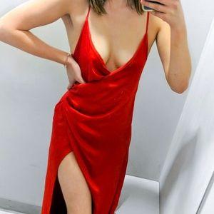Superdown Revolve Eva Front Slit Red Dress
